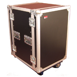 Gator G-TOUR 14U CAST 14 Space 19 Inch Flight Rack with Casters 2 locking and 2 non locking