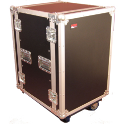 """Gator G-Tour 16Cast-24D 16 Space 24"""" Flight Rack with casters 2 locking and 2 non locking"""