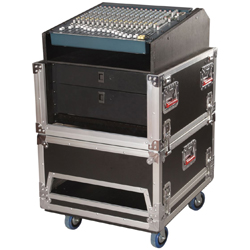 Gator G-TOUR GRC-1406  Wood Flight Rack Case with 14 Spaces Top and 6 Spaces Bottom