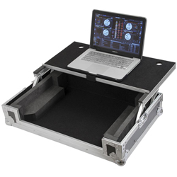 Gator G-TOUR DSPUNICNTLC Small Sized DJ Controller Case with Laptop Shelf