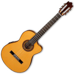 Ibanez GA40SFCE-AM-d Classical Series 6 String Acoustic Electric Guitar in Amber High Gloss (discontinued clearance)  (Prior Year Model)