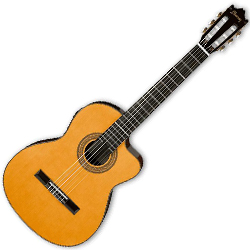 Ibanez GA6CE-AM Classical Series 6 String Acoustic Electric Guitar in Amber High Gloss