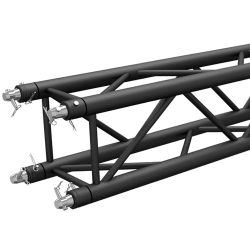 Global Truss SQ-4110-BLK F34 Matte Black Powder Coat Square Truss 3.28 ft. (1.0 Meter)
