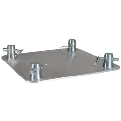 """Global Truss SQ-4137 12"""" x 12"""" Aluminum Base Plate for F34 Square Truss"""