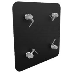 "Global Truss SQ-4137H-BLK 16""x16"" Aluminum Base Plate for F34 Square Trussing-Black Matte Finish"