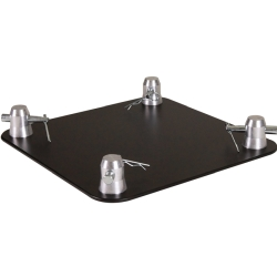 "Global Truss SQ-4137-BLK 12"" x 12"" Aluminum Base Plate for F34 Square Truss"