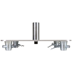 "Global Truss SQ-4137-SAP 12""x12"" Aluminum Base Plate with Speaker Pole Mount"