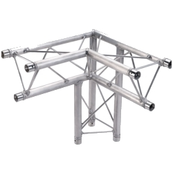 Global Truss TR96117-33 2-Way 90 Degree Corner Apex Up or Down Triangle Truss-1.64ft (0.5m)