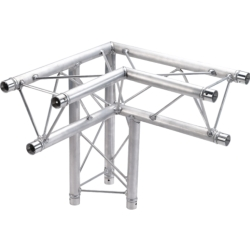 Global Truss TR96117-34 2-Way 90 Degree Corner Apex Up or Down Triangle Truss-1.64ft (0.5m)