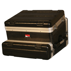 Gator GRC8X2 8 spaces on Tilt Rack Case 2 spaces below 19 Inch Polyethylene with Casters