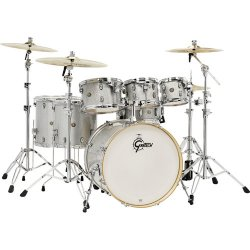 "Gretsch Drums CM1-E826P-SS Catalina Maple Series 7-Piece Drum Kit with 22"" Bass Drum (Silver Sparkle)"