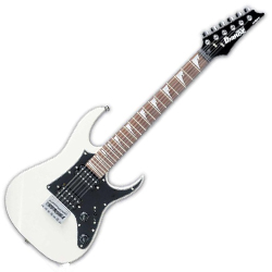 Ibanez GRGM21GB-WH miKro 3/4 size 6 String Solid Body Electric Guitar in White (Discontinued Clearance)