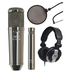 CAD Audio GXL3000BPSP Multi-Pattern Condenser Microphone Studio Pack in Black Pearl