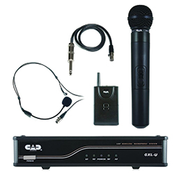 CAD Audio GXLUHBK UHF Combo Wireless Band System on K Frequency with WXHW and WXLAV