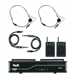 CAD Audio GXLVBBH VHF Wireless Dual Bodypack Microphone System H-Frequency Band