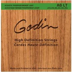 Godin 008995 A6 LT Phosphor Bronze Acoustic Guitar Strings Light (12 - 53)