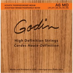 Godin 009336 A6 MD acoustic guitar strings 13 - 56