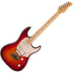 Godin 046980 Progression Plus MN 6 String Electric Guitar w/bag - Cherry Burst Flame