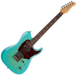 Godin 047093 Stadium 59 6 String Electric Guitar w/bag - Coral Blue RN
