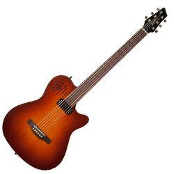 Godin 041602 A6 Ultra Baritone Burnt Umber Semi-Gloss 6 String Acoustic Electric Guitar