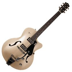 Godin 042548 5th Avenue Uptown LTD 6 String Hollowbody Guitar in Silver/Gold with TV Jones