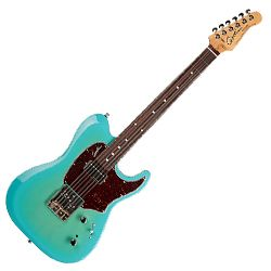 Godin 042692 Session Custom T59 Coral Blue 6 String Electric Guitar (discontinued clearance)