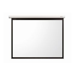 "Grandview CB-P 84 Cyber Series Commercial Designer 84"" Manual Pull-Down Screen 4:3 Format White Casing"
