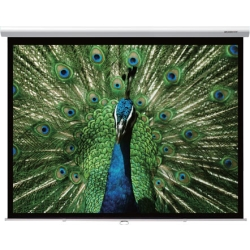 """Grandview GV-CMO084-4W CB-MIR 84 Integrated Cyber Motorized 84"""" Screen with White Casing 4:3 Format"""