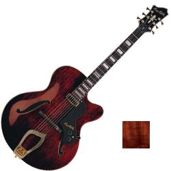 Hagstrom HL550-NMM 6 String Hollow Body HL 550 Model Electric Guitar in Natural Mahogany Matt