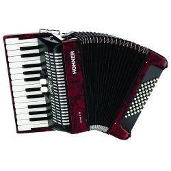 Hohner BR48BR-N Bravo Piano Accordion, 26-Key/48 Bass, Black