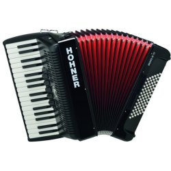 Hohner BR72B-N Bravo III 34 Keys, 72 Bass Piano Accordion