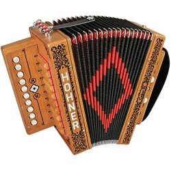 Hohner Cajun IV 10-Key Diatonic Accordion - Natural