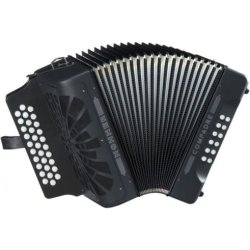 Hohner COAB ADG La 31 Button MM Compadre Button Accordion in Black