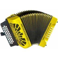 Hohner COAY ADG La 31 Button MM Compadre Button Accordion in Yellow