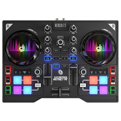 Hercules Audio INSTINCT P8 Dual Deck DJ Controller with 8 Sample Pads and Multicolored Lighting
