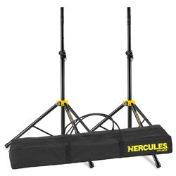 Hercules SS200BB Speaker Stand Pack with 2 Tripod Base Speaker Stand and Carrying Bag