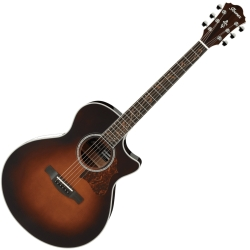 Ibanez AE205-BS AE Series 6 String RH Acoustic Electric Guitar-Brown Sunburst