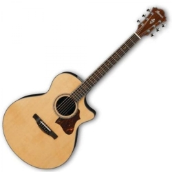 Ibanez AE900-NT 6 String RH Acoustic Electric Guitar with Case-Natural High Gloss
