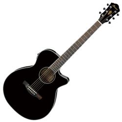 Ibanez AEG10II-BK AEG Series 6 String RH Acoustic Electric Guitar-Black Gloss
