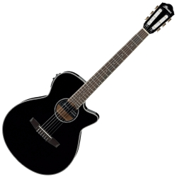 Ibanez AEG10NII-BK AEG Series 6 String RH Acoustic Electric Classical Guitar-Black High Gloss