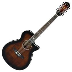 Ibanez AEG1812II-DVS AEG Series 12 String RH Acoustic Electric Guitar-Dark Violin Sunburst High Gloss