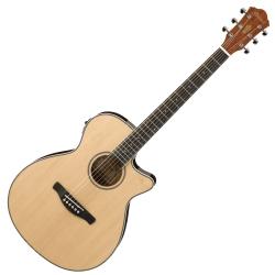 Ibanez AEG8E-NT AEG Series 6 String RH Acoustic Electric Guitar-Natural High Gloss