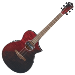 Ibanez AEWC32FM-RSF AEWC Series 6 String RH Acoustic Electric Guitar-Red Sunset Fade
