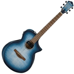 Ibanez AEWC400-IBB AEWC Series 6 String RH Acoustic Electric Guitar-Indigo Blue Burst High Gloss