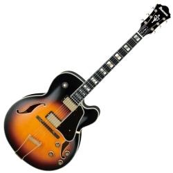 Ibanez AF200-BS Artstar Prestige Series 6 String RH Hollowbody Electric Guitar with Case-Brown Sunburst