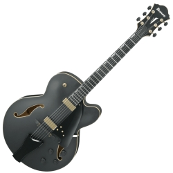 Ibanez AFC125-BKF Contemporary Archtop Series 6 String RH Hollowbody Electric Guitar-Black Flat