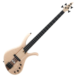 Ibanez AFR4FMP-NTF Premium Affirma 4 String RH Electric Bass with Case-Natural Flat (ETA pending LTD QTY)