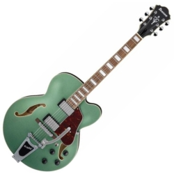 Ibanez AFS75T-MGF Artcore Series 6 String RH Hollowbody Electric Guitar-Metallic Green Flat