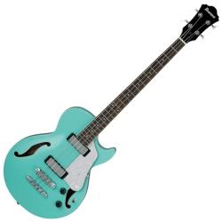 Ibanez AGB260-SFG Artcore Vibrante 4 String RH Semi-Hollowbody Acoustic Bass Guitar-Sea Foam Green
