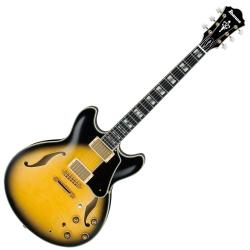 Ibanez AS200-VYS Artstar Prestige 6 String RH Semi-Hollowbody Electric Guitar with Case-Vintage Yellow Sunburst